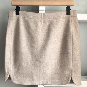 J Crew Shirttail Wool Mini Skirt Size 4
